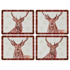 Winter Stag Placemats Set Of 4