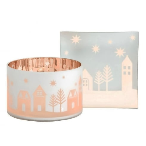 Yankee Candle Winter Village Shade and Tray Set