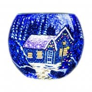 Winter Wonderland Tealight Holder Light Glass