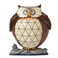 Wise And Well-Rounded Small Lazy Owl Figurine