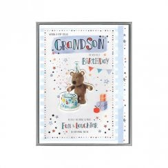 Wishing A Special Grandson The Very Best Birthday Boxed Large Barley With Cake Card