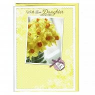 With Love Daughter At Easter Greeting Card