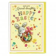 With Love Grand-Daughter Happy Easter Greeting Card