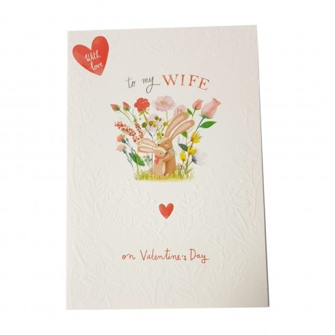 Ling Design With Love To My Wife On Valentines Day Bunnies Card SVJ118