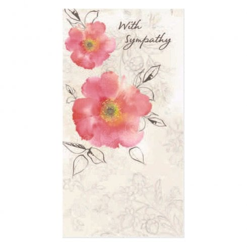 With Sympathy Floral Design Bereavement Card 11354971