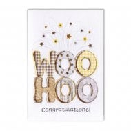 Woo Hoo Congratulations! Gold Tartan Card