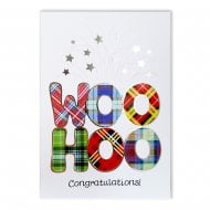 Woo Hoo Congratulations! Red Tartan Card