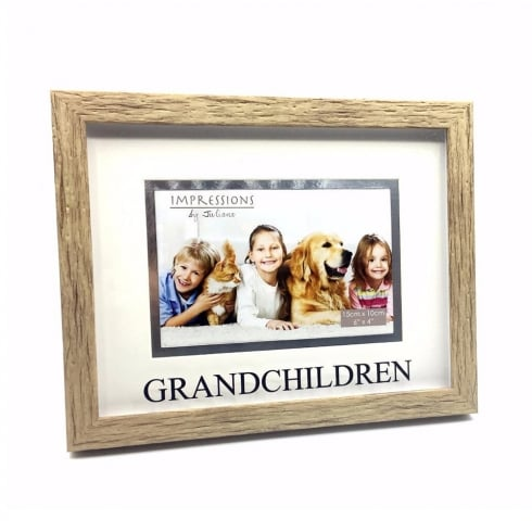 Impressions By Juliana Wood Effect Grandchildren 6 x 4 Photo Frame