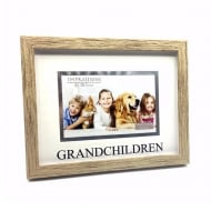 Wood Effect Grandchildren 6 x 4 Photo Frame