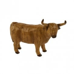 Wood Effect Highland Cow