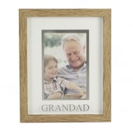 Wood Effect Plastic 6 x 4 Grandad Photo Frame