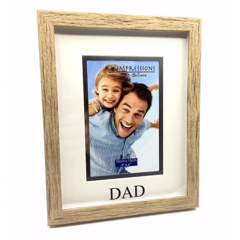 Impressions By Juliana Wood Effect Plastic Dad 4 x 6 Photo Frame