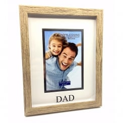 Wood Effect Plastic Dad 4 x 6 Photo Frame
