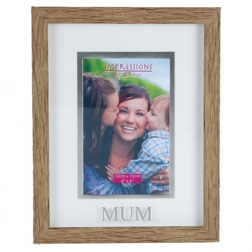 Impressions By Juliana Wood Effect Plastic Mum 4 x 6 Photo Frame