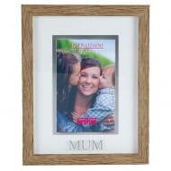 Wood Effect Plastic Mum 4 x 6 Photo Frame