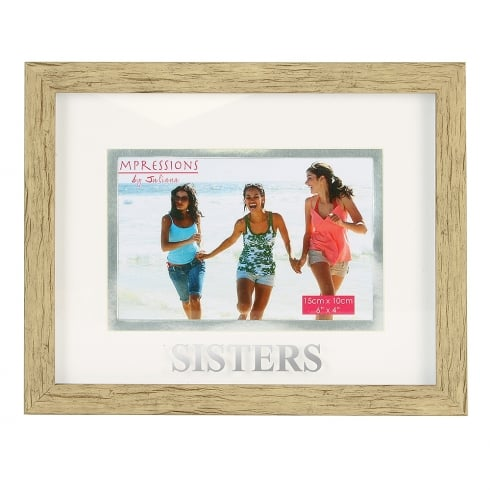 Impressions By Juliana Wood Effect Plastic Sister 6 x 4 Photo Frame