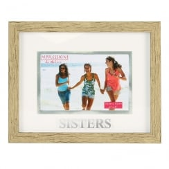 Wood Effect Plastic Sister 6 x 4 Photo Frame