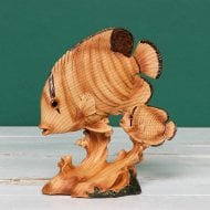 Wood Effect Resin Figurine - Fish