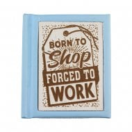 Woodcut Book Born To Shop