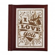 Woodcut Book I Love You