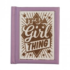 Woodcut Book Its A Girl Thing