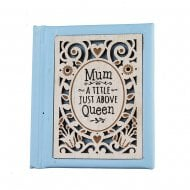 Woodcut Book Mum