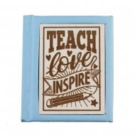 Woodcut Book Teach Love Inspire