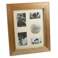 Wooden Collage Oak Finish Portrait 5 Photo Frame