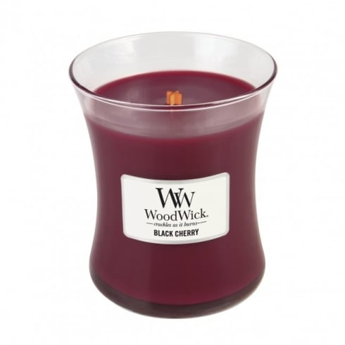 Woodwick Candle Black Cherry Medium Jar 9.7oz