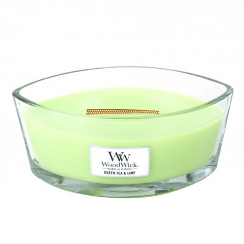 Woodwick Hearthwick Candle Green Tea & Lime Eclipse 16oz