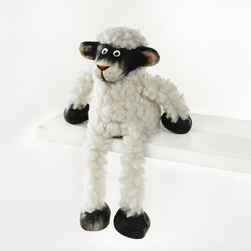 Richard Lang & Son Ltd Woolly Sheep Over-shelf Hanger Figurine