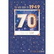 You Were Born In 1949 70th Male Birthday Card