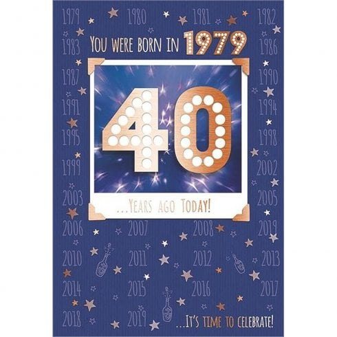 ICG Ltd You Were Born In 1979 40 years Ago Today 40th Male Birthday Card