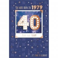 You Were Born In 1979 40 years Ago Today 40th Male Birthday Card