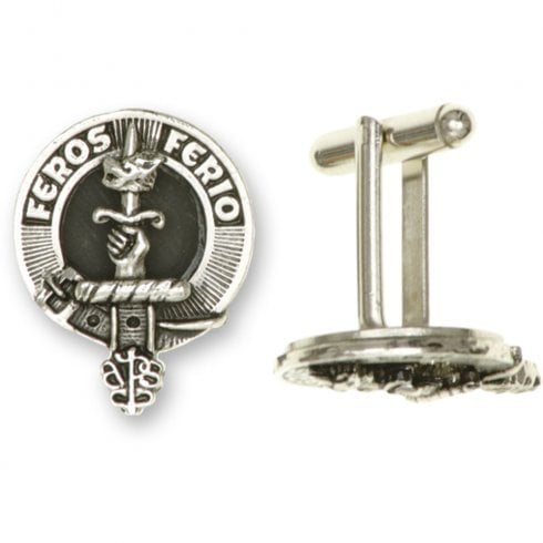 Art Pewter Young Clan Crest Cufflinks