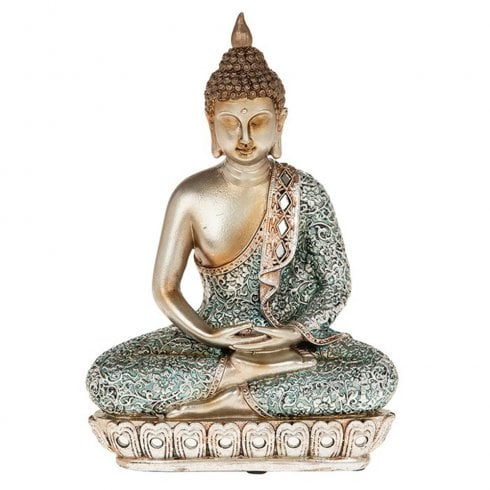 Shudehill Giftware Zen Blue Buddha Medium
