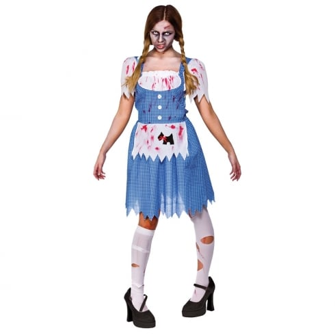 Wicked Costumes Zombie Country Girl Small